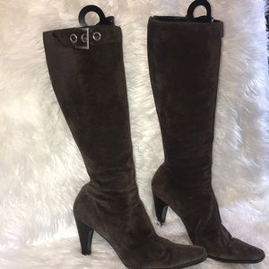Prada knee high suede boots size 37
